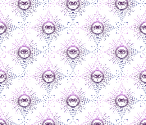 Sacred Geometry All Seeing Eye Pattern fabric by patterns_galore on Spoonflower - custom fabric