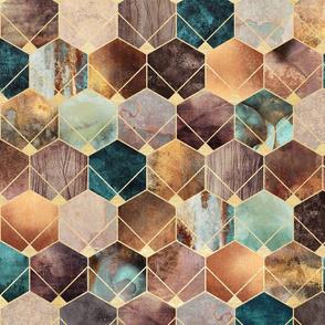 Natural Hexagons - Medium