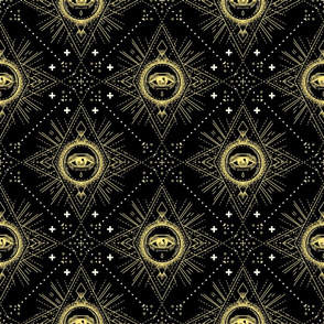All Seeing Eye Geometric Pattern