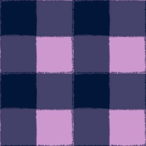 Navy and Orchid Plaid - Buffalo
