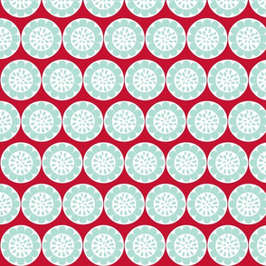 sunflower dot-red