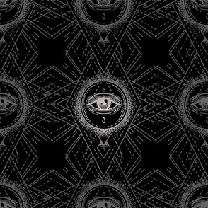 Black and Silver Eye Pattern