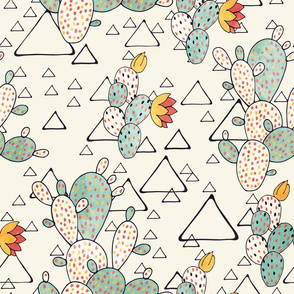 Prickly Pear Cacti and Triangles