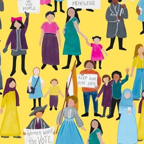 Large Scale Women Around the World on Yellow