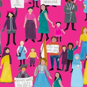 Large Scale Women Around the World on Magenta