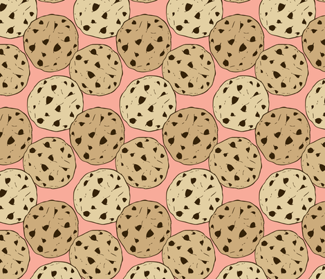 Chocolate chip cookies fabric by charladraws on Spoonflower - custom fabric