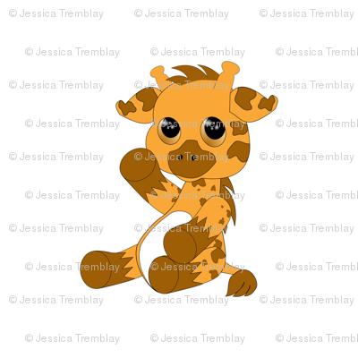 giraffe white back