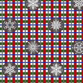 Snowflake Christmoose Plaid