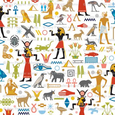 Walk Like an Egyptian* | Egypt symbols hieroglyphics ancient pyramids ankh leaves flora fauna animals flowers