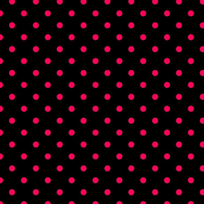 Black Licorice and Hot Pink Polka Dots
