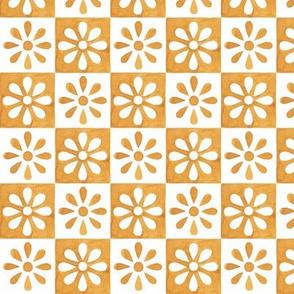 Mini Daisy Tile - Spanish Yellow