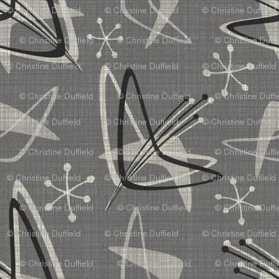 Atomic Boomerangs on Dark Gray