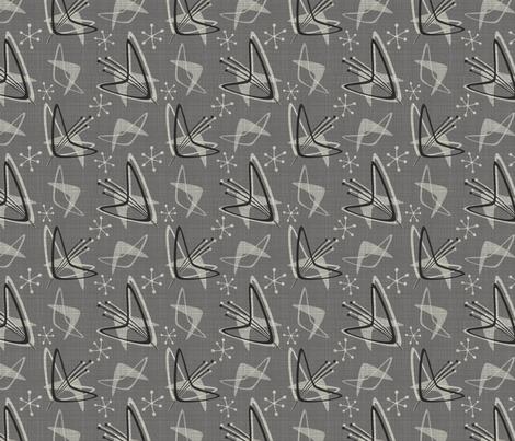 Atomic Boomerangs on Dark Gray fabric by studioxtine on Spoonflower - custom fabric