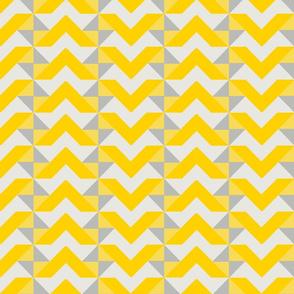 Mustard and Gray Geometric Triangles