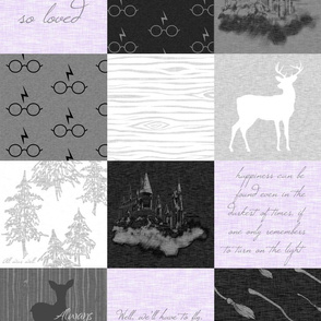 Always Quilt - lavender - wizard quotes -