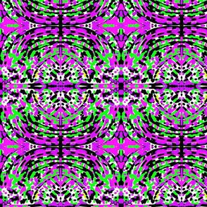 Karibu Purple, Green, Black & White 2