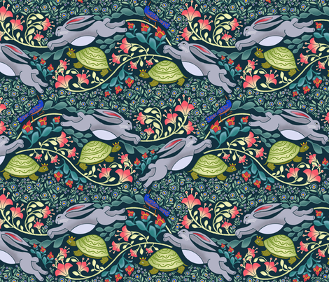 Folk Art Fable fabric by j9design on Spoonflower - custom fabric