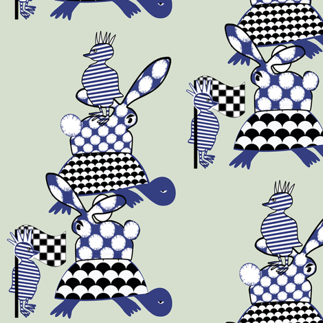 Stack Attack: we can't go on like this! fabric by su_g on Spoonflower - custom fabric