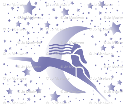art deco horse and stars