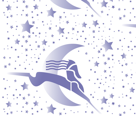 art deco horse and stars fabric by lacy_and_jojo on Spoonflower - custom fabric