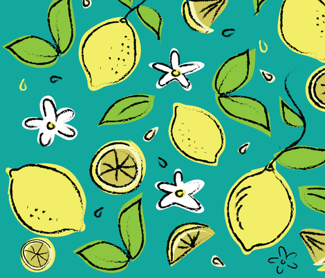 LEMONS fabric by wxstudio on Spoonflower - custom fabric
