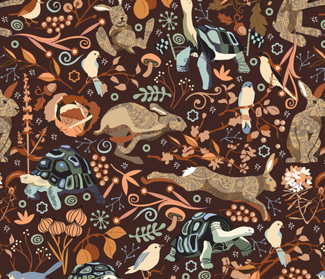 The tortoise and the hare fabric by camcreative on Spoonflower - custom fabric