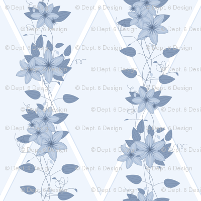 Glory Bower Clematis: Chambray Blues