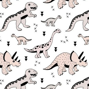 Cool Scandinavian kids dino friends dinosaur pattern gender neutral
