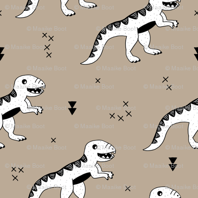 Cool tyrannosaurus dinosaurs history theme for kids brown beige