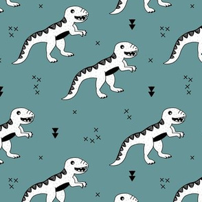 Cool tyrannosaurus dinosaurs history theme for kids stone gray