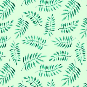 Greenery watercolor pattern