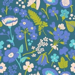 Bright Flowers & Leaves
