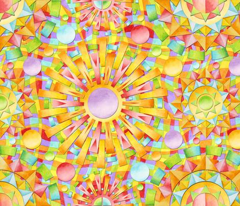 Rainbow Candy fabric by patriciasheadesigns on Spoonflower - custom fabric