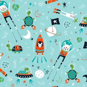 Space Race - Aqua