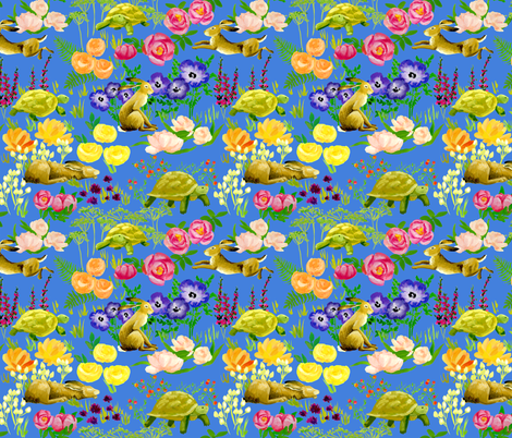 tortoise and hare fabric by ghouk on Spoonflower - custom fabric