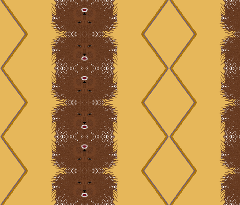 Tribe of Judah khaki fabric by ahuva_israel on Spoonflower - custom fabric