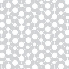 White Gray Grey Neutral Spots Polka Dots Math || Black Winter Quilt Coordinate Home Decor Low Volume _ Miss Chiff Designs