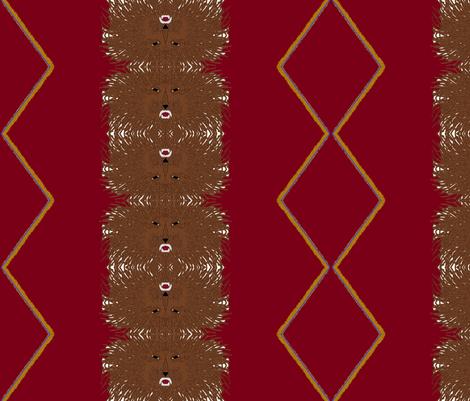Tribe of Judah burgundy fabric by ahuva_israel on Spoonflower - custom fabric