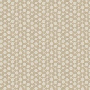 Texture Solid Brown Tan Beige Khaki Neutral Spots Polka Dots Math || Fall Quilt Coordinate Home Decor by Miss Chiff Designs