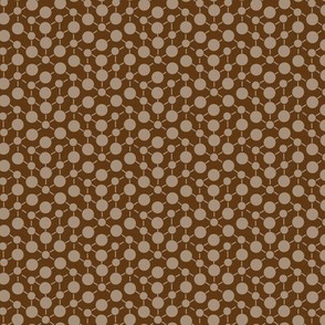 Texture Solid Chocolate Brown Tan Beige Khaki Neutral Spots Polka Dots Math || Fall Quilt Coordinate Home Decor _ Miss Chiff Designs