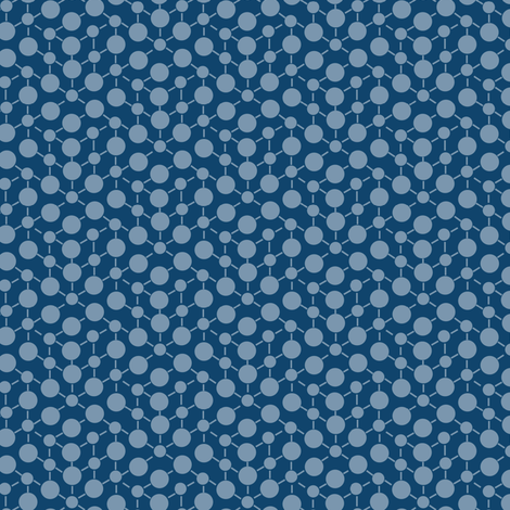 Texture Solid Navy Blue Gray Grey Abstract Spots Polka Dots Math || Fall Quilt Coordinate _ Miss Chiff Designs  fabric by misschiffdesigns on Spoonflower - custom fabric