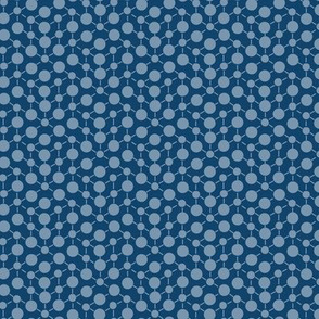 Texture Solid Navy Blue Gray Grey Abstract Spots Polka Dots Math || Fall Quilt Coordinate _ Miss Chiff Designs