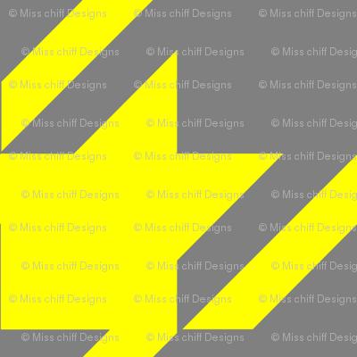 18-04D Jumbo Houndstooth Yellow Gray _ Miss Chiff Designs