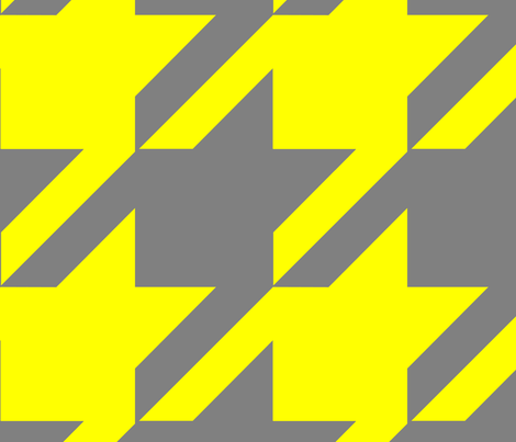 18-04D Jumbo Houndstooth Yellow Gray _ Miss Chiff Designs  fabric by misschiffdesigns on Spoonflower - custom fabric