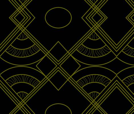 Art Deco Fanfare fabric by lidiarose on Spoonflower - custom fabric
