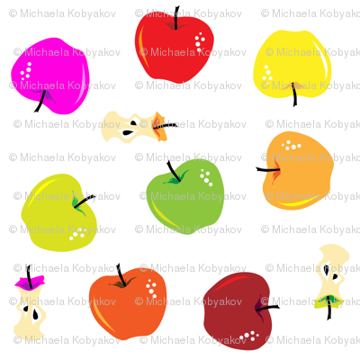 multicolor apple toss small