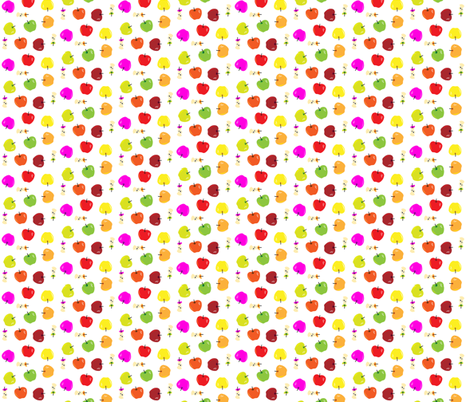 multicolor apple toss small fabric by michaelakobyakov on Spoonflower - custom fabric