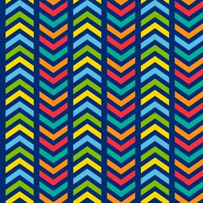 Playful Striped Chevron Colorful
