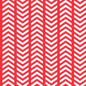 Playful Striped Chevron Red White