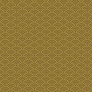Small Japanese-Style Ripple - Brown and Gold